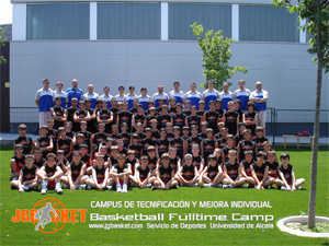 Galería fotográfica. Hasta siempre participantes en el primer turno del Campus del Baloncesto JGBasket 2008