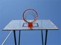 Valores y baloncesto. Canasta, aro, red baloncesto